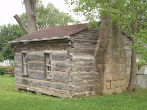 Parks Log Cabin was built in the 1838.